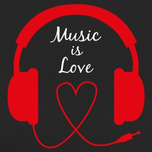 Music is Love - T-shirt ecologica da donna