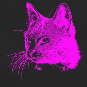Cat head pink, cat, cat, domestic cat - Women's Organic T-shirt