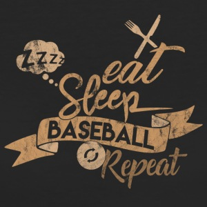 EAT SLEEP BASEBALL REPEAT - Women's Organic T-shirt