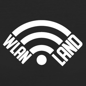 WiFi Land Logo wit - Vrouwen Bio-T-shirt