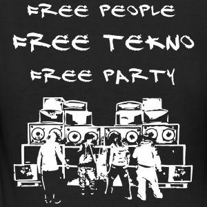 Free people - Free tekno - Free party - Frauen Bio-T-Shirt
