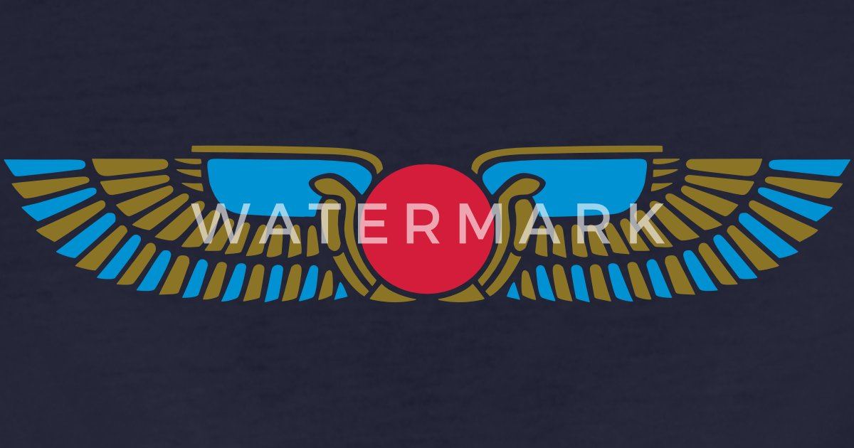 Egypt Sun Disk Wings Symbol Of Protection By Yuma Spreadshirt