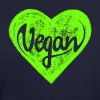 Vegan - a heart for animals, protection, nature,   - Camiseta ecológica mujer