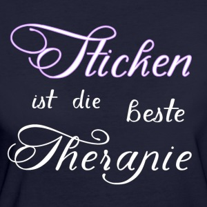Borduren is de beste therapie - Vrouwen Bio-T-shirt