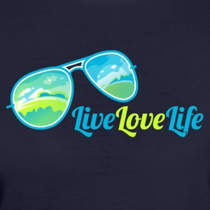Live Love Life - Frauen Bio-T-Shirt