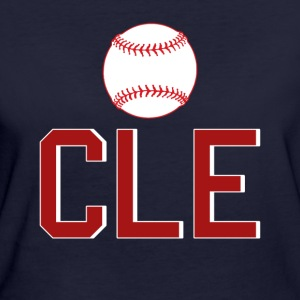 Cleveland Baseball Throwback CLE - Ekologisk T-shirt dam