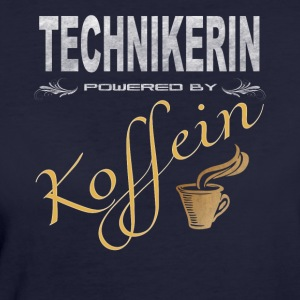 Technikerin powered by Koffein Shirt - Frauen Bio-T-Shirt
