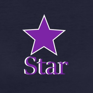 purple Star - T-shirt ecologica da donna