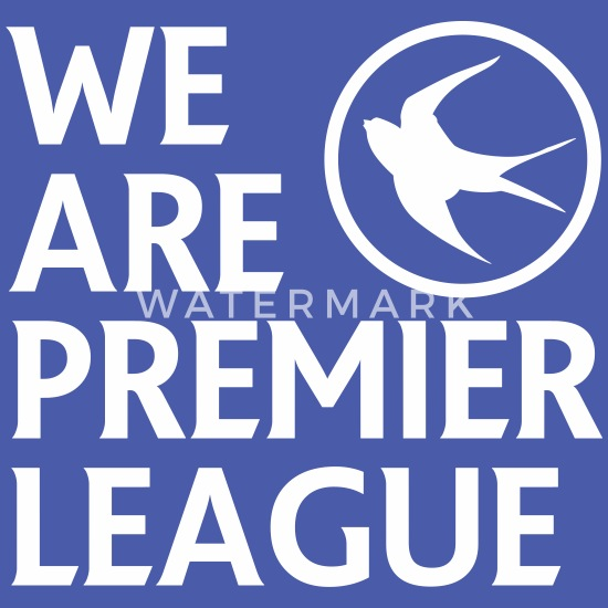 Cardiff City FC - We Are Premier League (White) Retro Bag   Spreadshirt