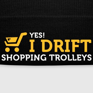 Yes! I Drift With Shopping Cart In The Supermarket - Winter Hat