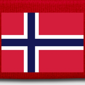 Nationalflagge von Norwegen - Wintermütze