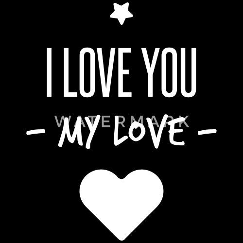 I Love You My Love Paraplu Spreadshirt