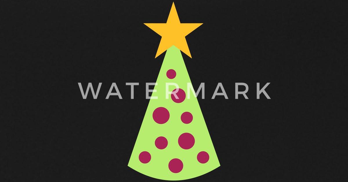 Kerstboom Paraplu Spreadshirt