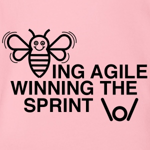 BEING AGILE WINNING THE SPRINT - Organic Short-sleeved Baby Bodysuit