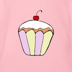 Cupcake cafe staff pastry lover sweet t-shirt - Organic Short-sleeved Baby Bodysuit