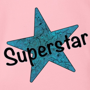 Superstar schwarz - Baby Bio-Kurzarm-Body
