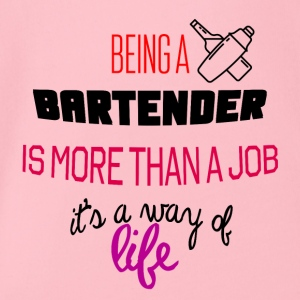 Being a bartender - Organic Short-sleeved Baby Bodysuit