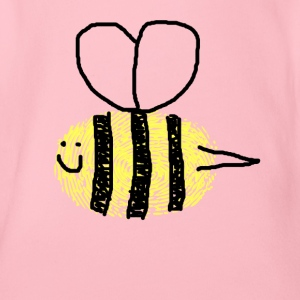 Happy bee queen - Organic Short-sleeved Baby Bodysuit