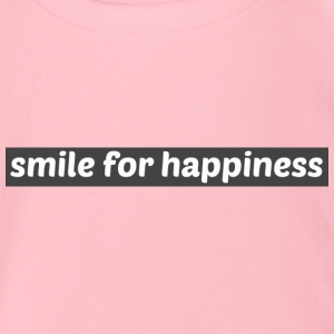 Smile for happiness - Organic Short-sleeved Baby Bodysuit
