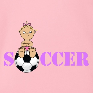 Soccer girl 4 2 - Organic Short-sleeved Baby Bodysuit