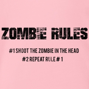 Zombie: Zombie Rules - # 1 The Zombie In The - Organic Short-sleeved Baby Bodysuit
