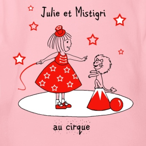 Julie and Mistigri at the Circus - Organic Short-sleeved Baby Bodysuit