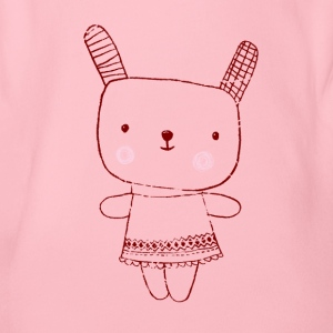 bag rabbit - Organic Short-sleeved Baby Bodysuit