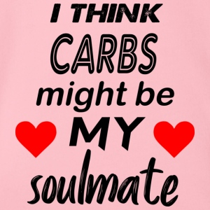 carbs are my soulmate - Organic Short-sleeved Baby Bodysuit