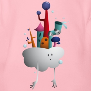 Cloud Village - Økologisk kortermet baby-body