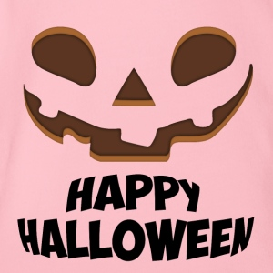 Happy Halloween Face - Organic Short-sleeved Baby Bodysuit
