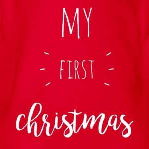 my first christmas - weiß - Baby Bio-Kurzarm-Body