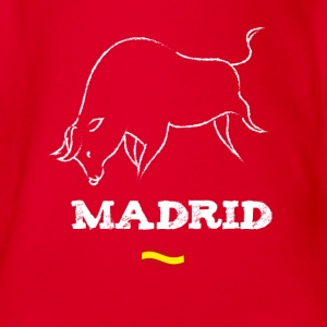 Madrid bull bull fight flag trip lol trip - Organic Short-sleeved Baby Bodysuit