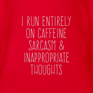 Caffeine and Sarksmus and thoughts - Organic Short-sleeved Baby Bodysuit