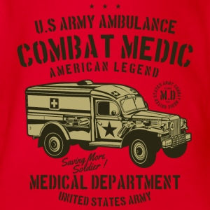 US Army Ambulance2 - Økologisk kortermet baby-body