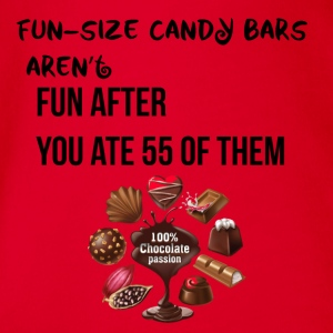 Fun size candy bars are not fun - Organic Short-sleeved Baby Bodysuit