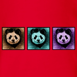 Panda - Collage - Baby Bio-Kurzarm-Body
