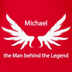 Michael the Man behind the Legend - Organic Short-sleeved Baby Bodysuit
