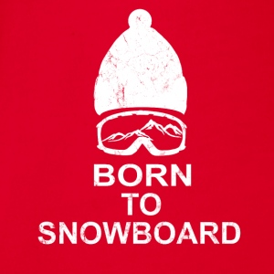 born to snowboard - Organic Short-sleeved Baby Bodysuit