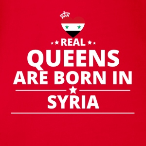 queens from geschenk i love SYRIA - Baby Bio-Kurzarm-Body