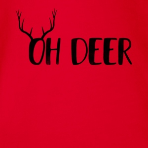 Oh Deer Ugly jul Design - Ekologisk kortärmad babybody