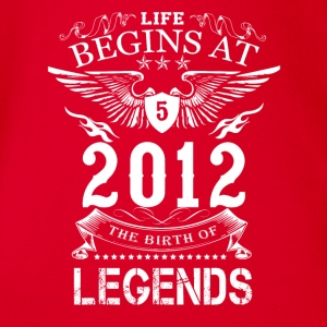 Life Begin At 5 2012 The Birth Of Legends - Organic Short-sleeved Baby Bodysuit
