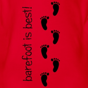Barefoot is Best! - Organic Short-sleeved Baby Bodysuit