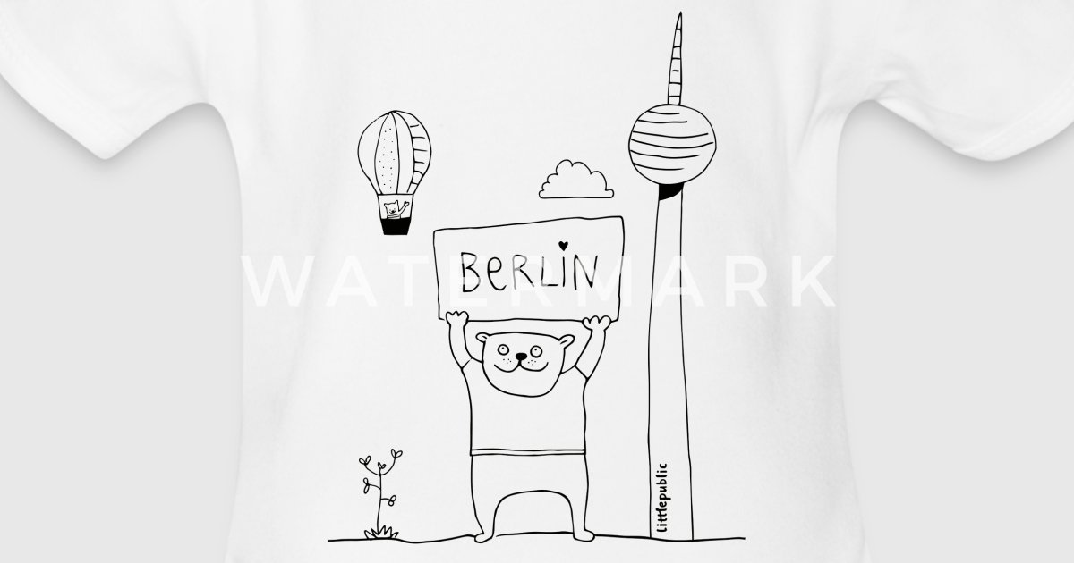 Berliner Bär | zum Ausmalen | littlepublic von littlepublic ...