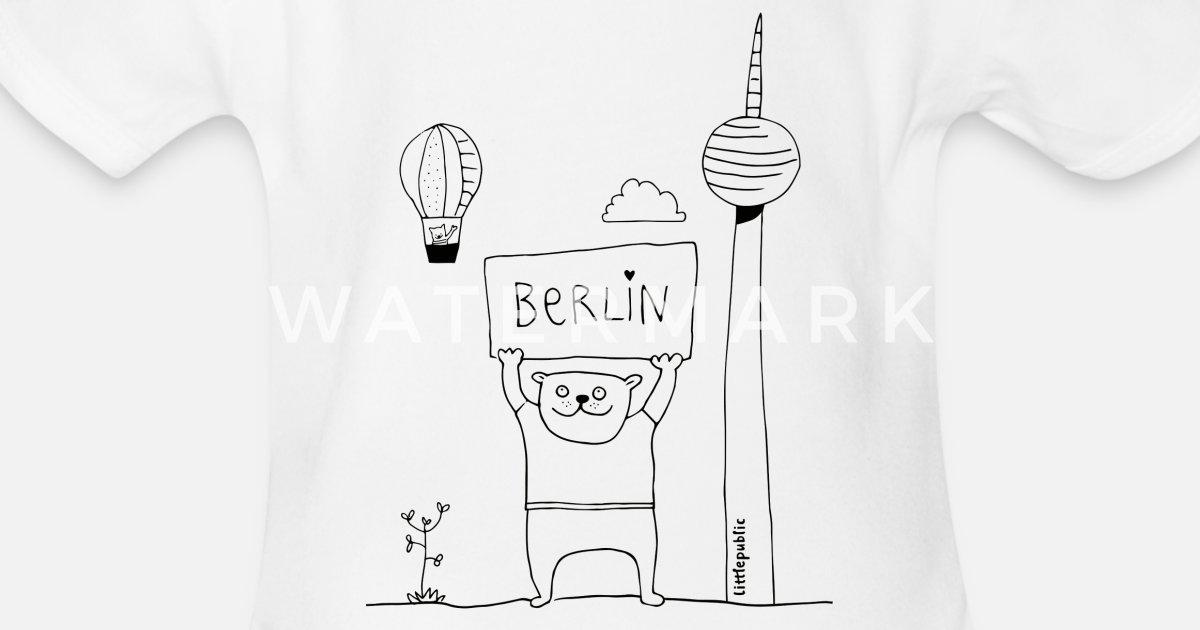 Berliner Bär Zum Ausmalen Littlepublic Baby Kurzarmbody