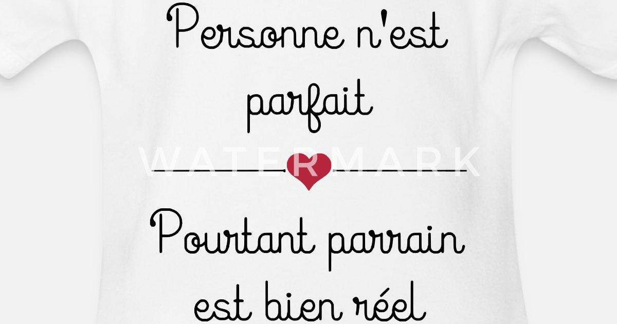 Spreadshirt I Love Mon Parrain Body b/éb/é Bio Manches Courtes
