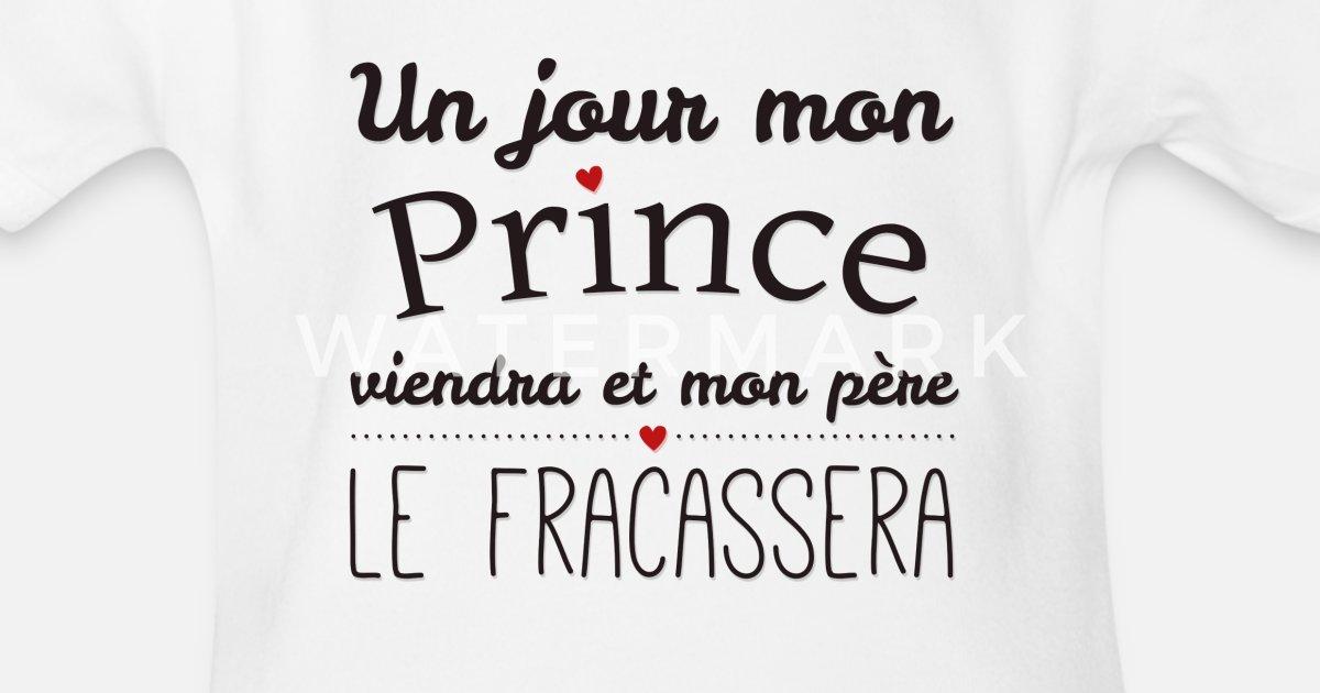 Spreadshirt Un Jour Prince Viendra Body b/éb/é Bio Manches Courtes
