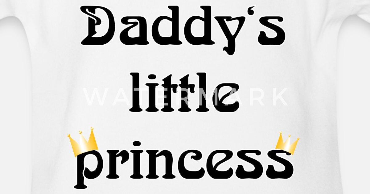 d95c87b4a93 daddys little princess Økologisk kortermet babybody | Spreadshirt