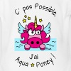 Licorne Rose C' pas possible, J'ai Aquaponey - Body bébé bio manches courtes