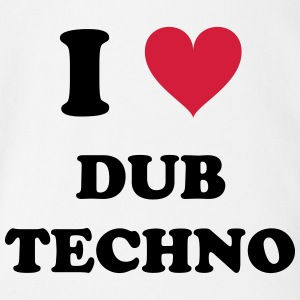 I LOVE DUB TECHNO - Baby Bio-Kurzarm-Body