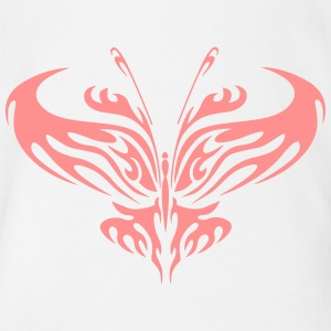 Butterfly - Abstract 2 - Organic Short-sleeved Baby Bodysuit